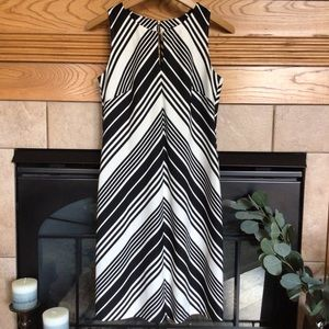 The Limited Black & White Chevron Sheath Dress